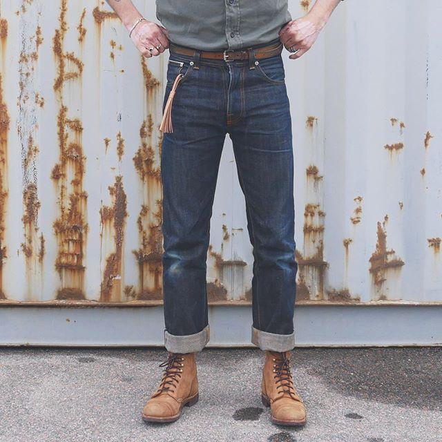high kai org used navy - nudie jeans